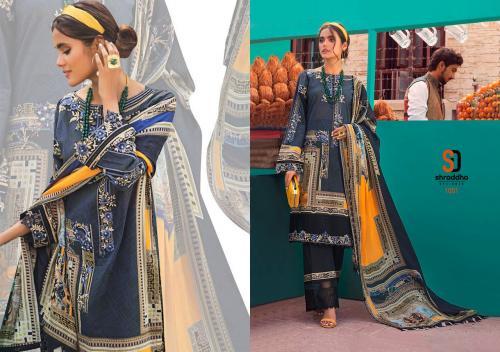 Shraddha Designer Vintage 1001 Price - Chiffon Dup-625 , Cotton Dup-675