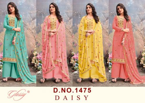 Glossy Daisy 1475 Colors  Price - 5700