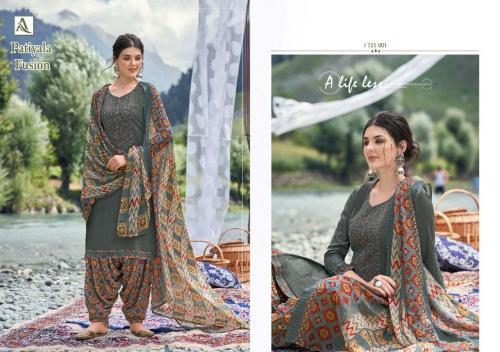 Alok Suits Patiyala Fusion 1725-001 Price - 700