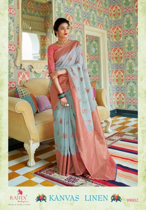 Rajtex Saree Kanvas Linen 99002