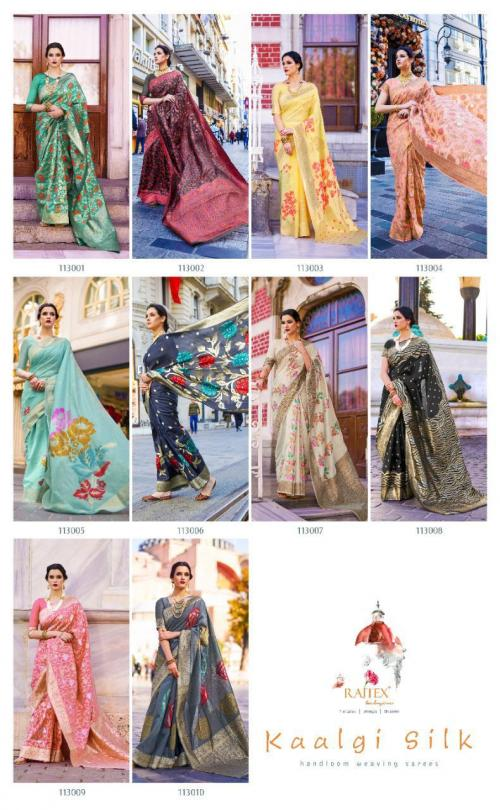 Rajtex Saree Kaalgi Silk 113001-113010 Price - 13600