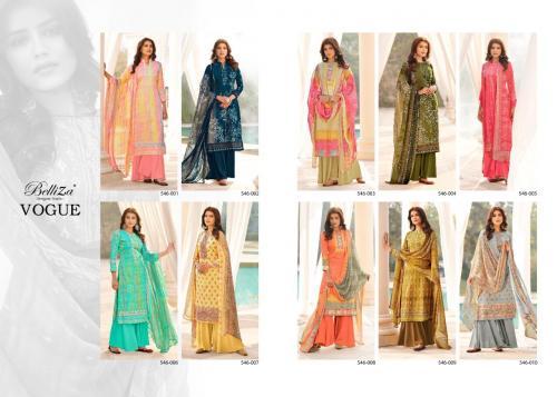 Belliza Designer Vogue 546-001 to 546-010 Price - 7000