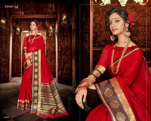 Lifestyle Saree Khadi Silk 55888 Price - 598