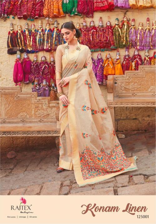 Rajtex Saree Konam Linen 125001-125006 Series