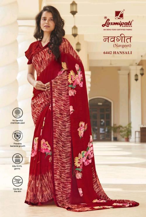 Laxmipati Saree Navgeet 6442-6453 Series