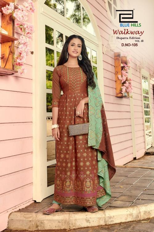 Blue Hills Walkway Dupatta Edition 105 Price - 715