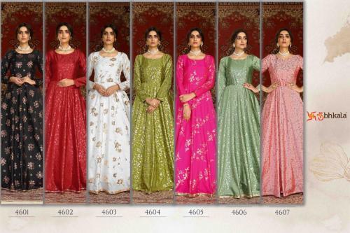 Shubhkala Flory 4601 -4607 Price - 7700