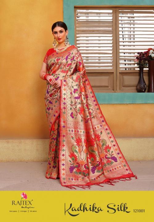 Rajtex Saree Kadhima Silk 121001-121002 Series
