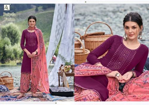 Alok Suits Patiyala Fusion 1725-002 Price - 700