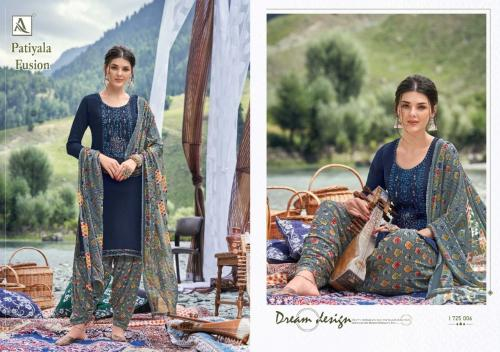 Alok Suits Patiyala Fusion 1725-006 Price - 700