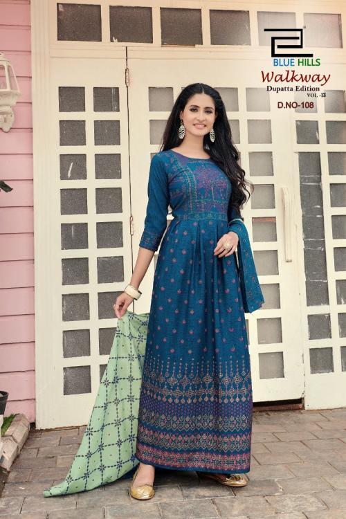 Blue Hills Walkway Dupatta Edition 108 Price - 715
