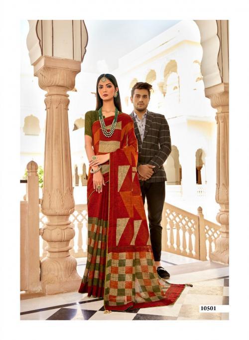 Triveni Saree Gulaboo Vol-4 10501-10508 Series
