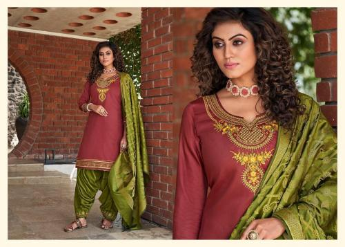 Kessi Fabrics Silk By Patiyala 4007 Price - 949