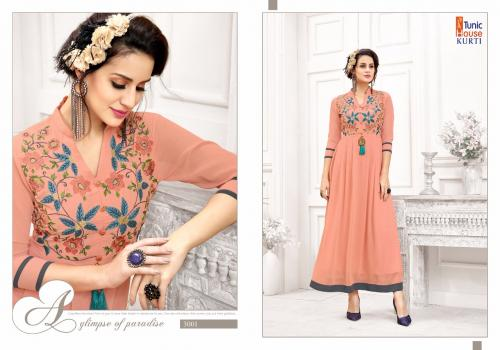 Tunic House Kurti Jeenat Vol-1 3001-3005 Series