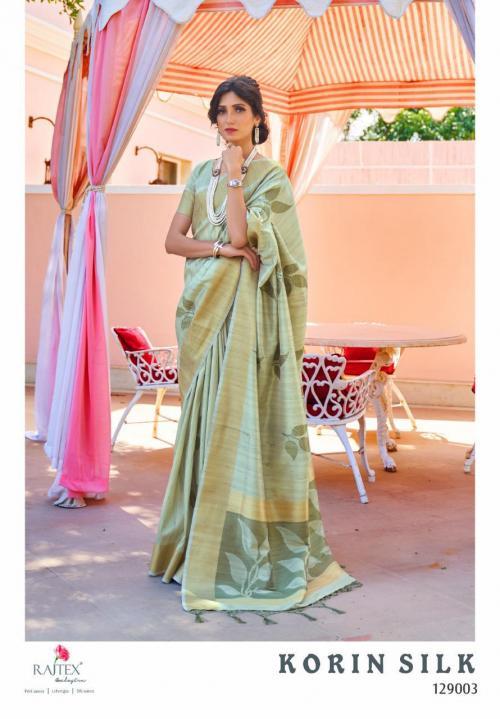 Rajtex Saree Korlin Silk 129003 Price - 1245