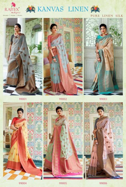 Rajtex Saree Kanvas Linen 99001-99006