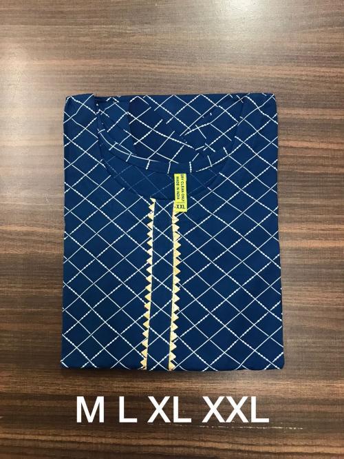Non Catalog Jaipuri Rayon Print Kurtis C Price - 325
