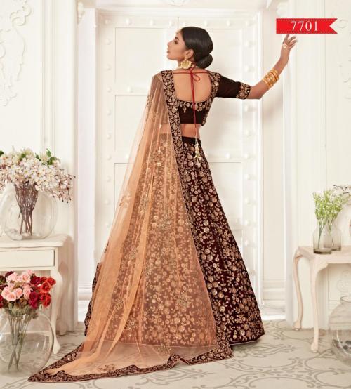 Zeel Heavy Bridal Lehenga Choli 7701 Price - 4200
