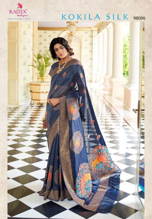 Rajtex Saree Kokila Silk 98006 Price - 1360