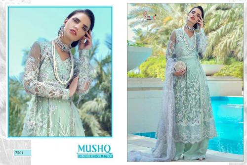 Shree Fabs Mushq Embroidered Collection 7501-7505 Series