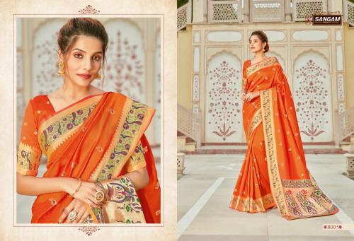 Sangam Prints Koorinaidu Silk 8001-8006 Series