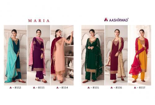 Aashirwad Creation Maria 8332-8337 Price - 8970
