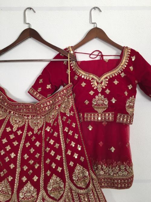 Bollywood Bridal Designer Lehenga Maroon Price - 5595