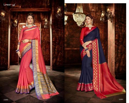 Lifestyle Saree Khadi Silk 55890-55891 Price - 1196