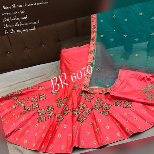 BR Designer Appliqe style Lehenga BR-6070-B Price - 2610