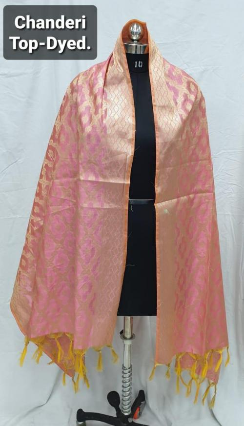 AL 1013-1020 Chanderi Jacquard Dyed Dupatta