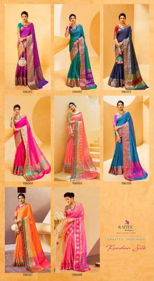 Rajtex Kundan Silk 106001-106008 Price - 5880