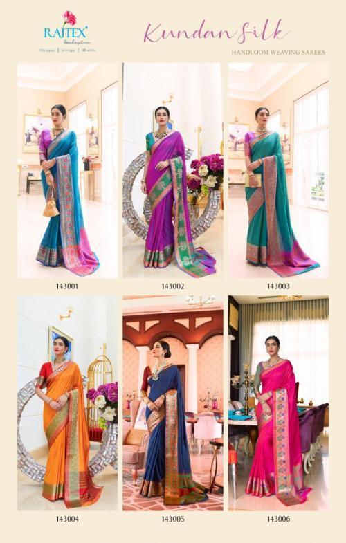Rajtex Kundan Silk 143001-143006 Price - 5610