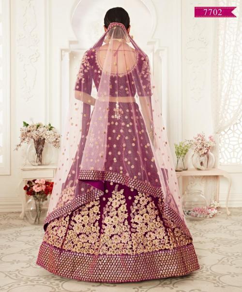 Zeel Heavy Bridal Lehenga Choli 7702 Price - 4200