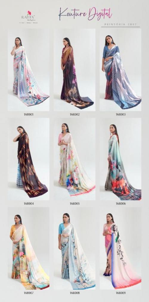 Rajtex Saree Kouture Digital 168001-168009 Price - 9045