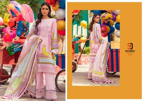 Shraddha Designer Vintage 1002 Price - Chiffon Dup-625 , Cotton Dup-675