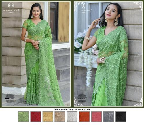 Motherland Net Designer Wedding Saree
