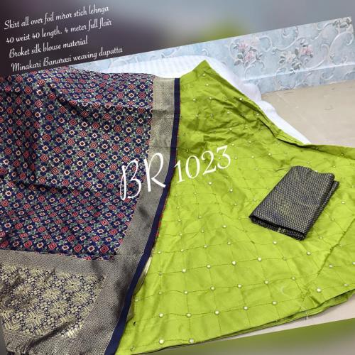 BR Designer Foil Mirror Work Designer Lehenga Choli BR-1023-A Price - 1850