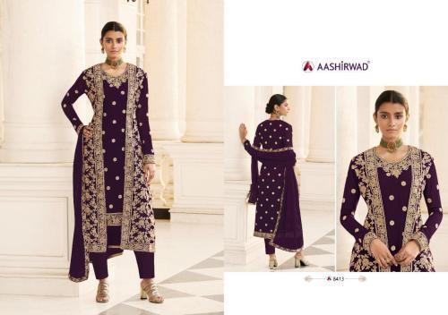 Aashirwad Creation Jacket 8413 Colors