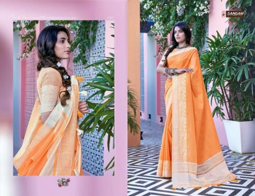Sangam Saree Floral 1001-1006 Series