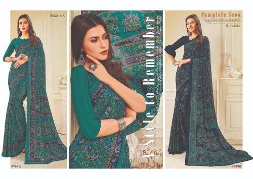 Sushma Saree Ensemble 9709 AB Price - 1500