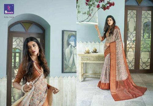 Shangrila Saree Trisha Digtal Linen 51414 Price - 1215