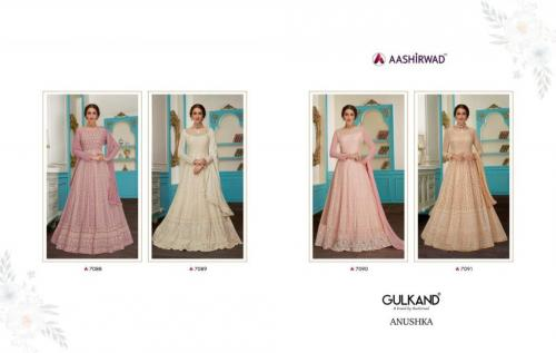 Aashirwad Creation Gulkand Anushka 7088-7091 Price - 9180
