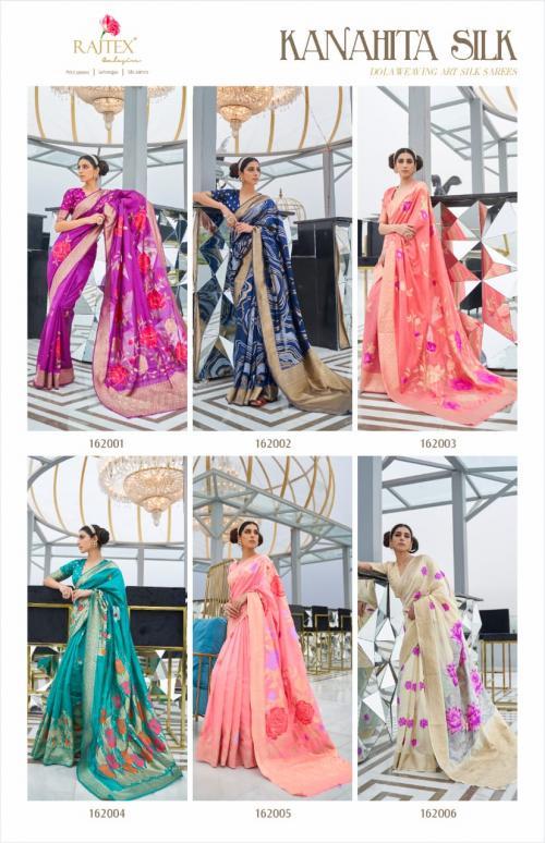 Rajtex Saree Kanahita Silk 162001-162006 Price - 9360