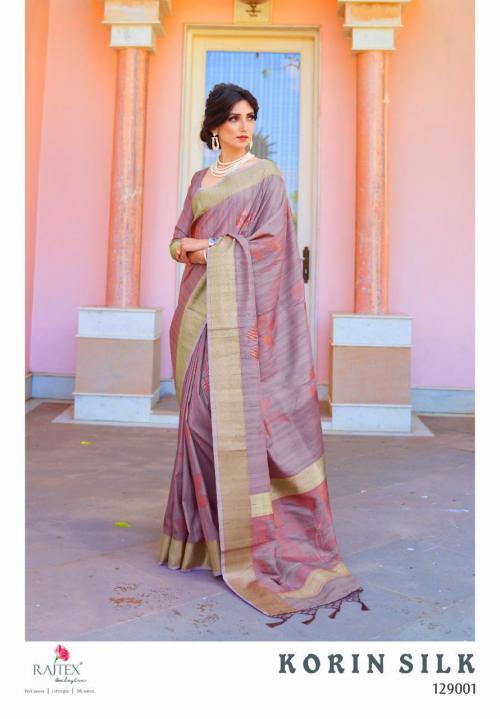 Rajtex Saree Korlin Silk 129001 Price - 1245