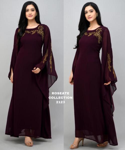 Bollywood Designer Roseate Gown 2123-D Price - 1300