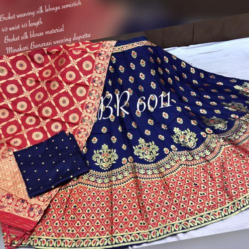 BR Heavy Golden Designer Lehenga BR-6011-B Price - 1149