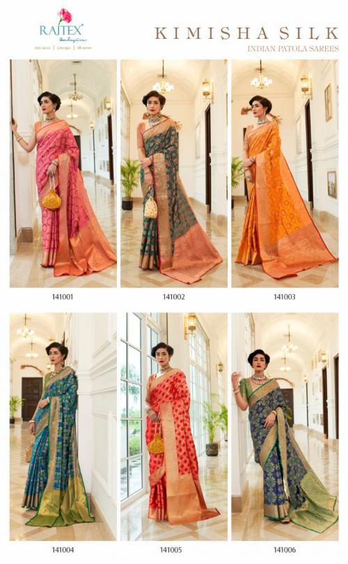 Rajtex Saree Kimisha Silk 141001-141006 Price - 7170