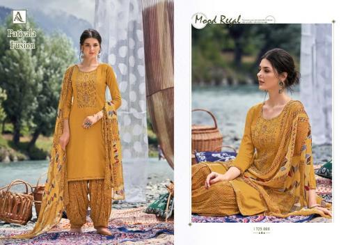 Alok Suits Patiyala Fusion 1725-008 Price - 700