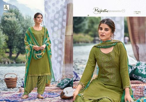 Alok Suits Patiyala Fusion 1725-004 Price - 700