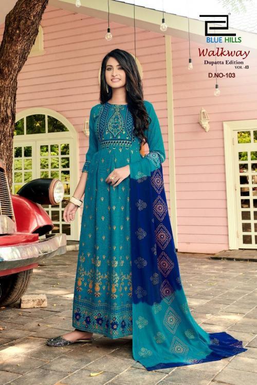 Blue Hills Walkway Dupatta Edition 103 Price - 715